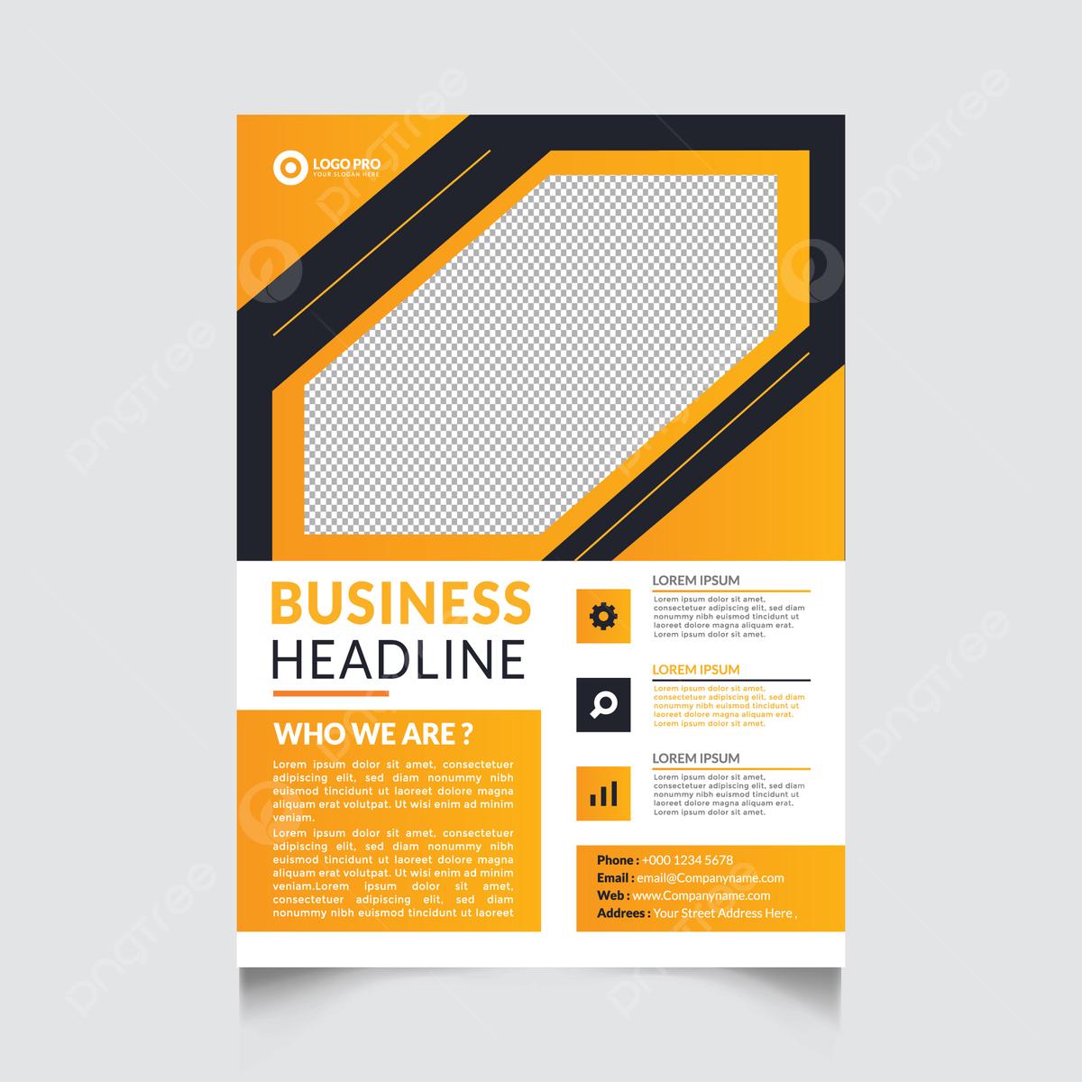 Templat Desain Brosur Gaya Bisnis Templat Untuk Unduh Gratis Di Pngtree
