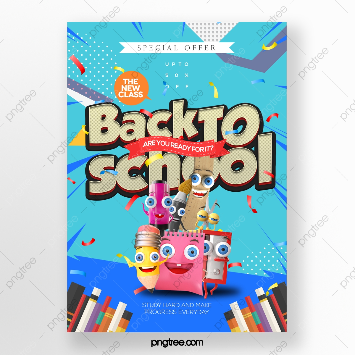 Cartoon Fashion Cute Style Back To School Promotion Poster Template Download On Pngtree