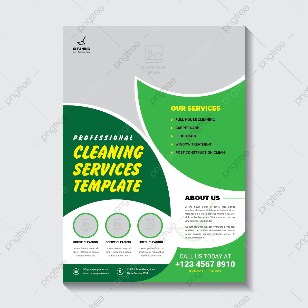 Cleaning Service Flyer Template Template Download On Pngtree