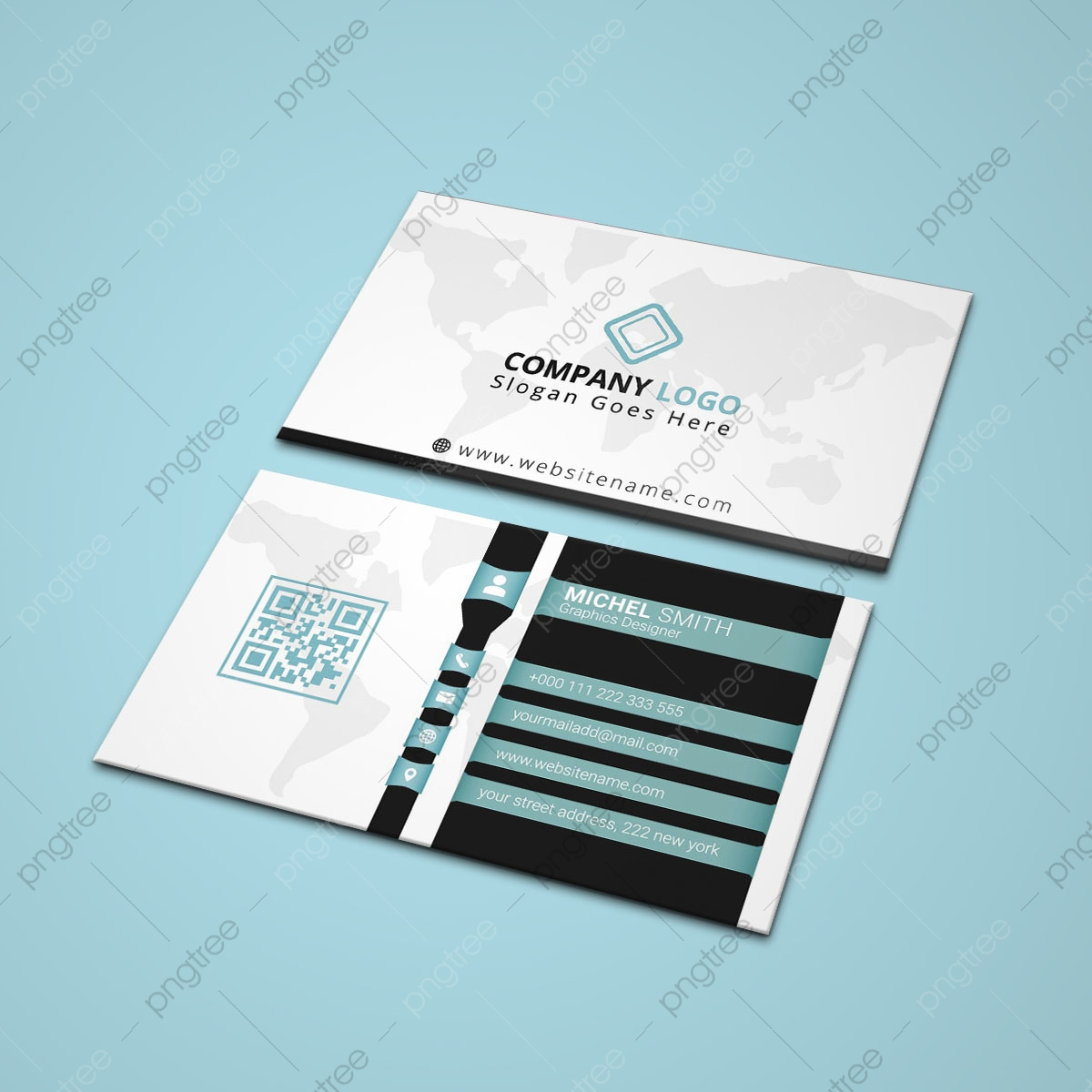 Creative Modern Business Card Template With Qr Code Template ...