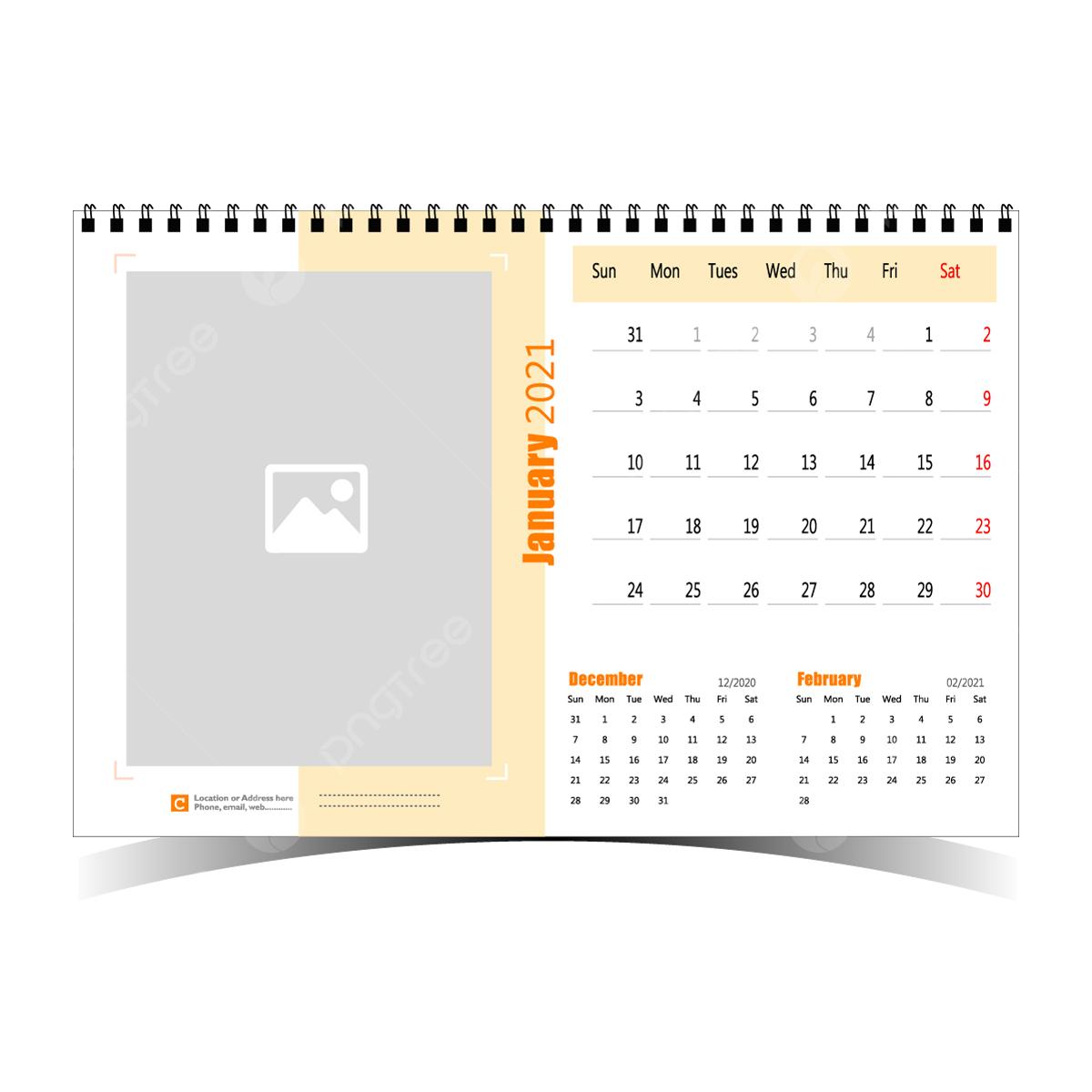 Kalender Meja 2021 Template Desain Untuk Organisasi ...