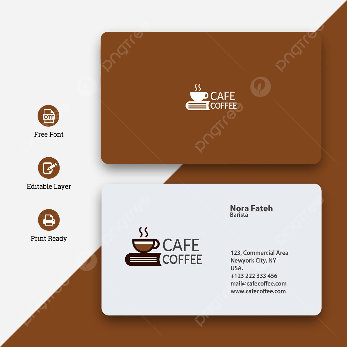 Elegant Coffee Shop Business Card Template Download on Pngtree With Coffee Business Card Template Free