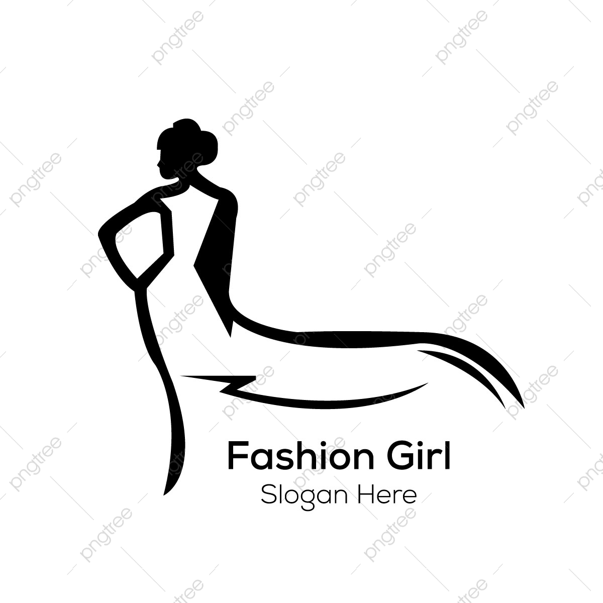 Fashion Girl Logo Design Template Template For Free Download On Pngtree