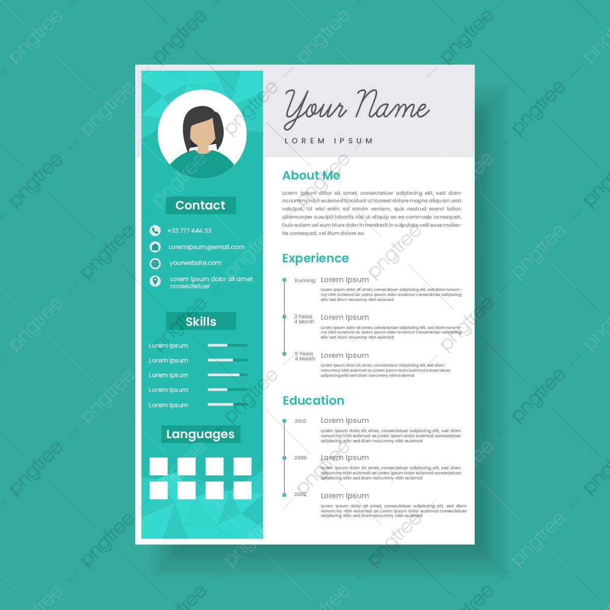 Stylish Resume from png.pngtree.com