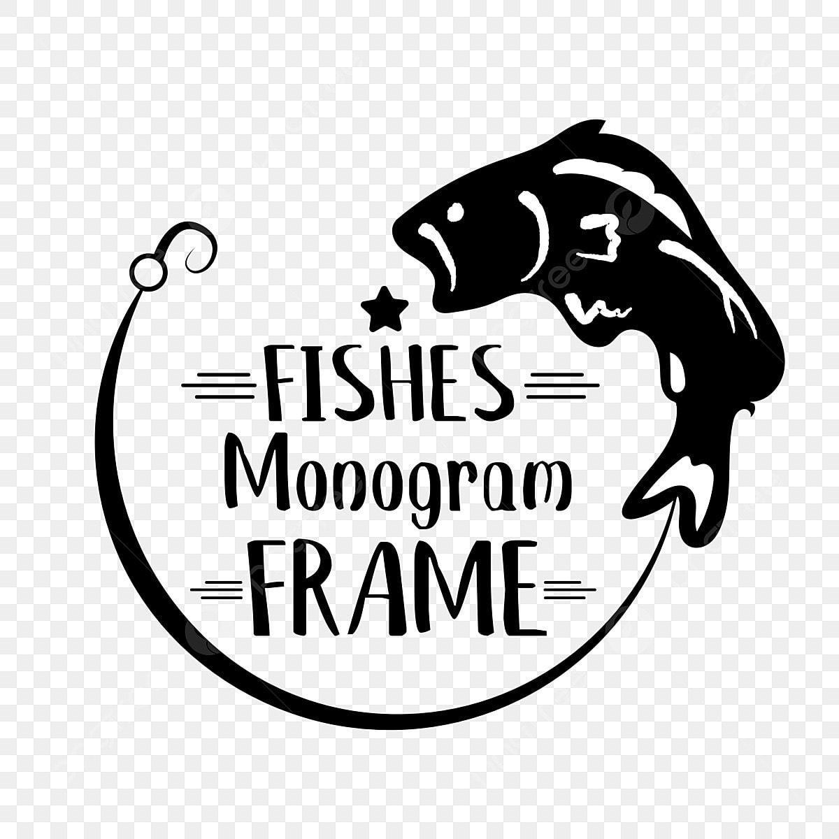 Download Fish Monogram Frame Svg Phrase Font Effect Eps For Free Download