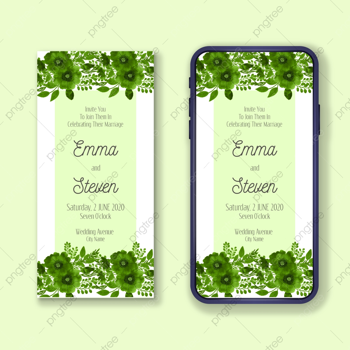 Gambar Reka Bentuk Promosi Mudah Alih Kad Jemputan Perkahwinan Romantis Elektronik Mewah Yang Indah Templat Untuk Muat Turun Percuma Di Pngtree