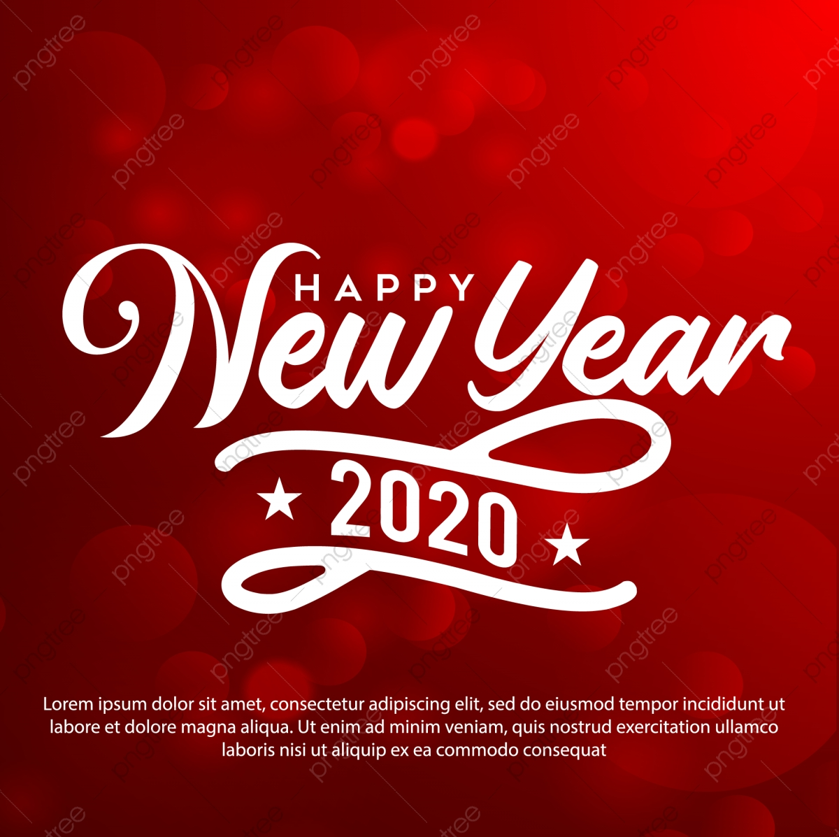 Happy New Year Greeting Card Wirh Red Background Template for Free Download  on Pngtree