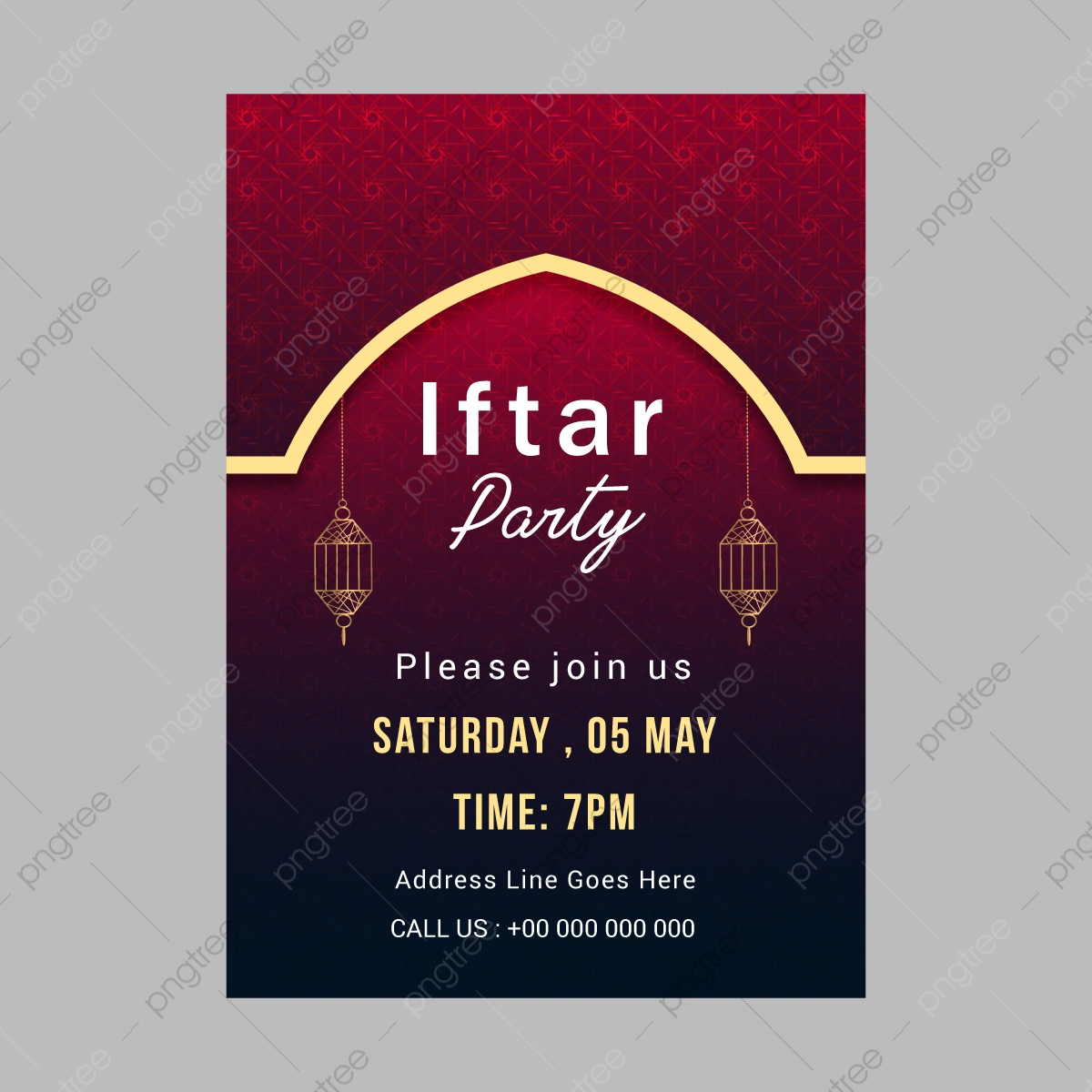 Iftar Party Invitation Card Design Template Download On Pngtree