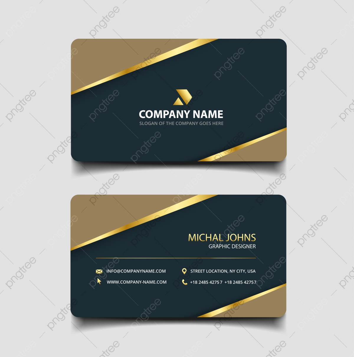 Luxury Business Card Design Template Template Download On Pngtree