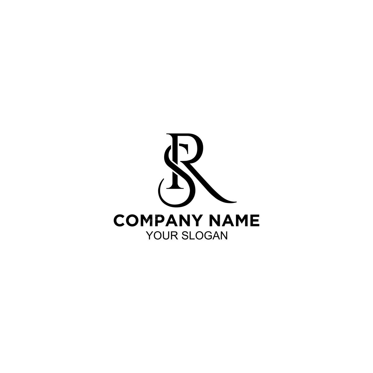 Monogram Sr Logo Design Vector Template For Free Download On Pngtree
