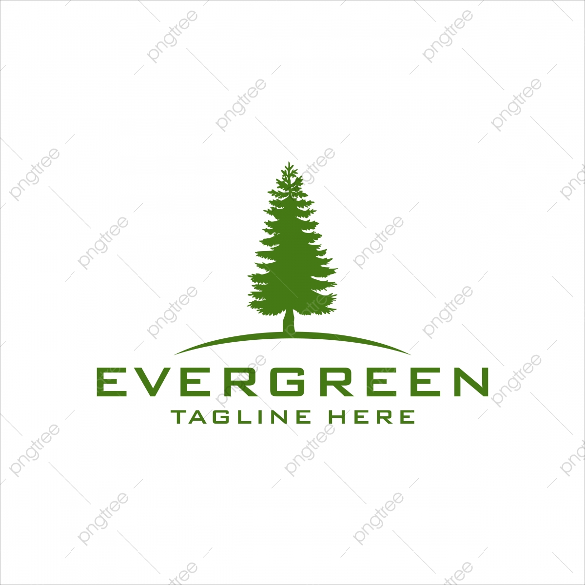 Pine Trees Logo Design Evergreen Fir Hemlock Spruce Conifer Cedar Coniferous Cypress Larch Template Download On Pngtree