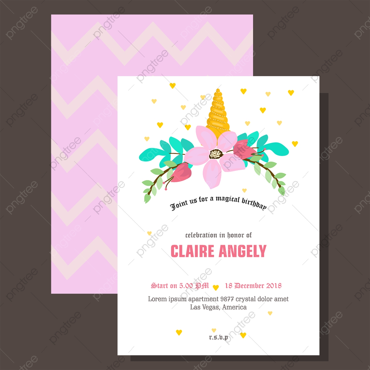 Pink Birthday Invitation Cards Template for Free Download on Pngtree