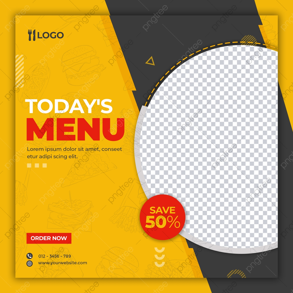 Restaurant Food Instagram Social Media Post Design Template Template For Free Download On Pngtree