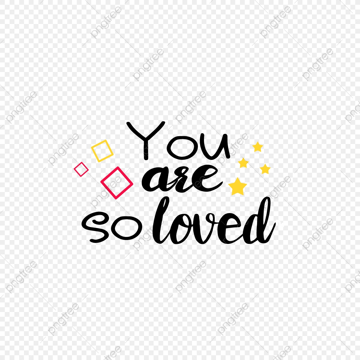 Simple Geometric You Are So Loved Svg Art Word Sentence Font Effect Eps For Free Download