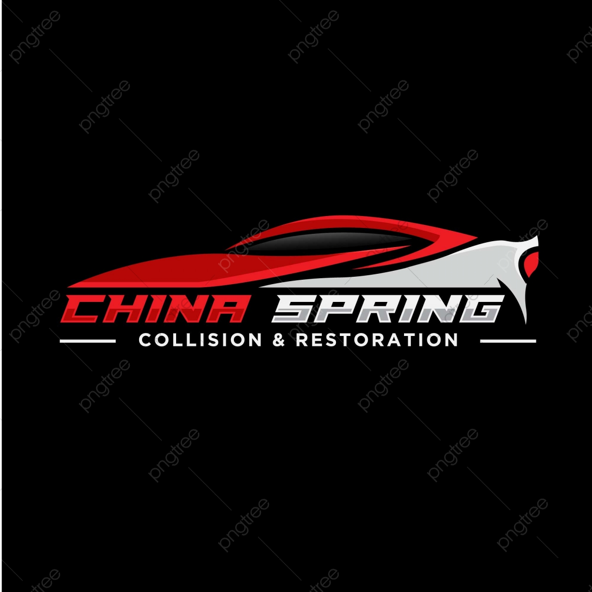 Sport Car Logo Design With Red Silhouette Template Download On Pngtree
