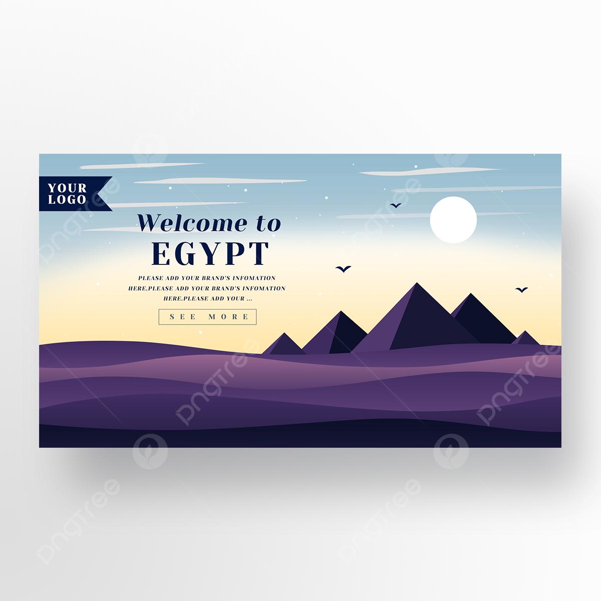 Sunset Egypt Tourism Promotion Website Template Download On Pngtree