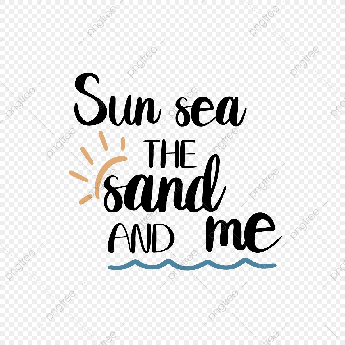 Svg Black Sunny Beach And Me Hand Drawn Ocean Illustration Font Effect Eps For Free Download
