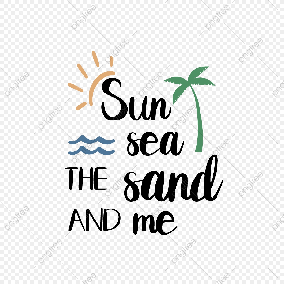Svg Black Sunny Beach And My Hand Drawn Leaves Ocean Illustration Font Effect Eps For Free Download