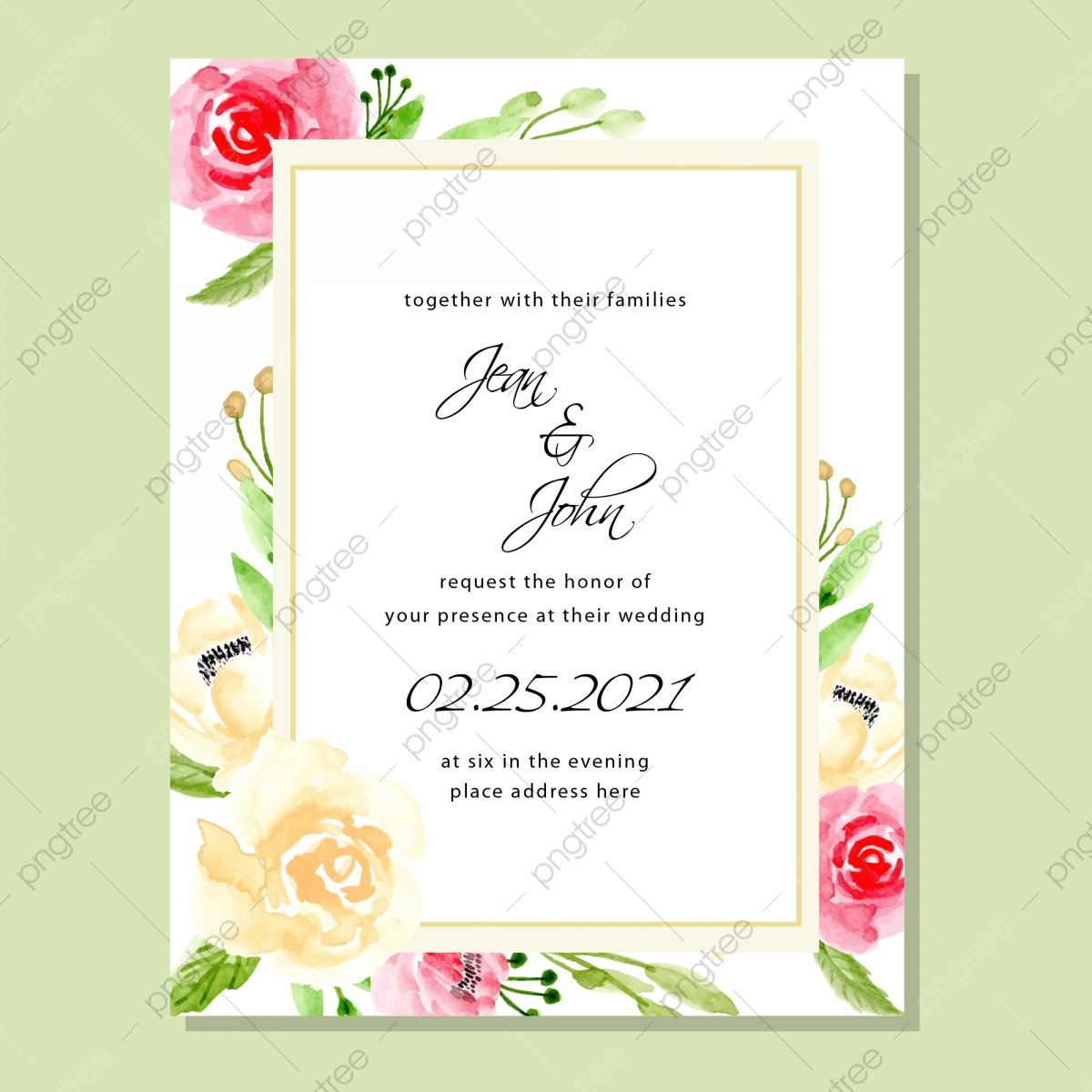 Kad Kahwin Floral Png Images Vector And Psd Files Free Download On Pngtree