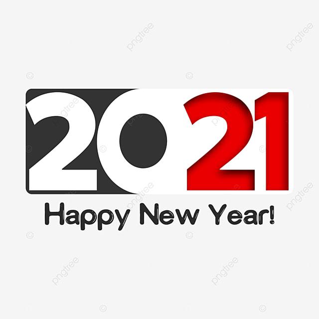 2021 new year art word