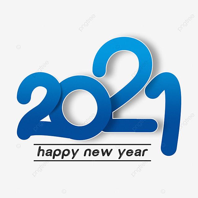 2021 white stroke blue font
