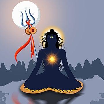 Vector Clipart - Happy maha shivratri lord shiva trishul on watercolor  brush stroke. Vector Illustration gg110264481 - GoGraph