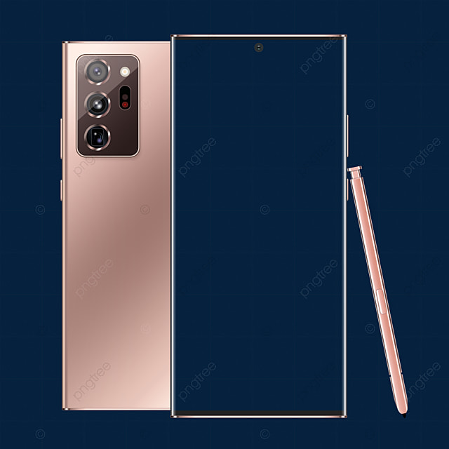 Galaxy Note 20 Ultra Mockup Samsung Mystic Bronze Color Editable Psd Front View And Back View With Pen Editable Psd Mockups Png Transparent Clipart Image And Psd File For Free Download