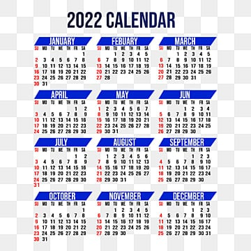 One Page Calendar PNG Images | Vector and PSD Files | Free Download on  Pngtree