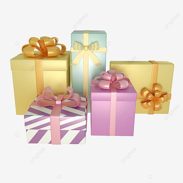 3d birthday festive decoration gift box