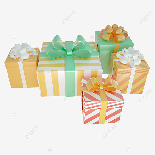 3d birthday gift box combination