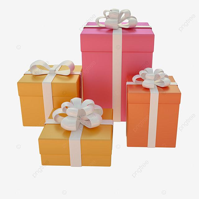 3d modeling birthday gift gift box decoration