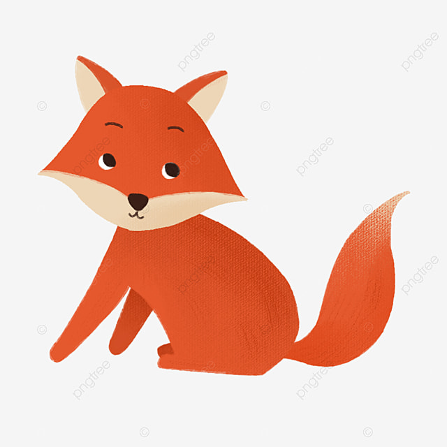 Creative Hand Drawn Illustration Image Cute Animal Cartoon Fox Painting Label Cartoon Png Transparent Clipart Image And Psd File For Free Download