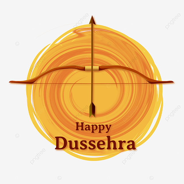 dussehra abstract yellow shading bow and arrow