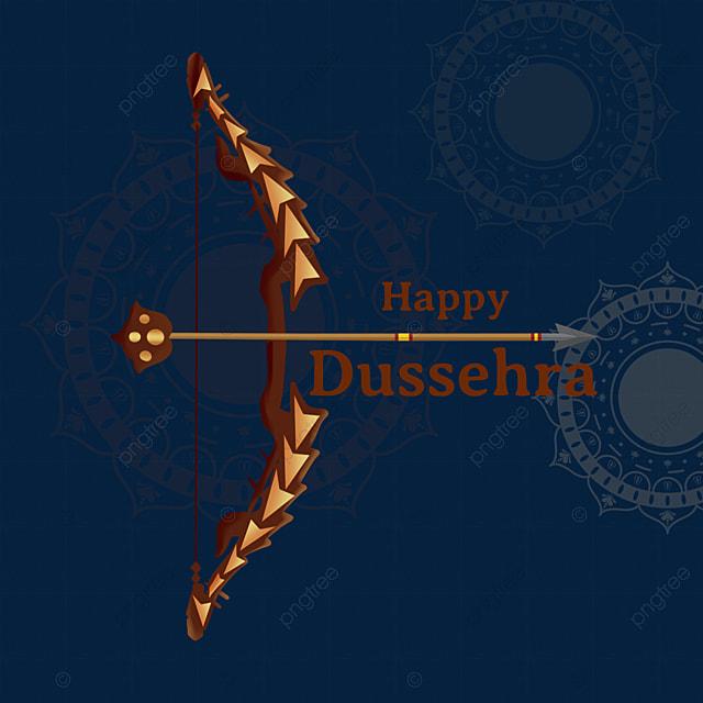 dussehra black geometric creative bow and arrow