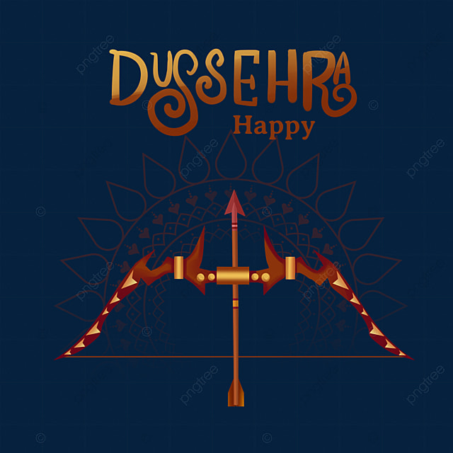 dussehra creative bow and arrow festival elements