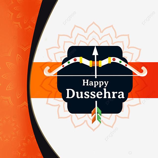 dussehra festival religious lotus creative bow and arrow