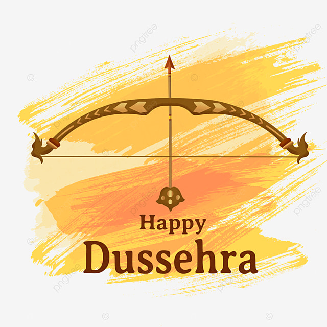 dussehra golden ink brush creative bow and arrow