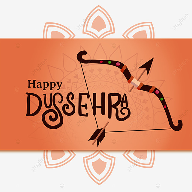 dussehra indian festival creative bow and arrow