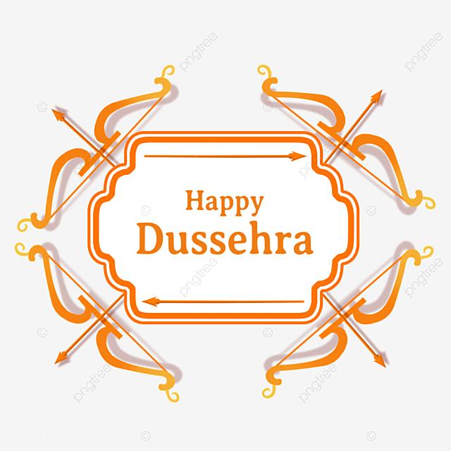 dussehra orange gradient creative bow and arrow