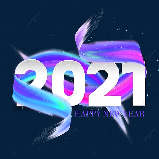 2021 ribbon abstract art word