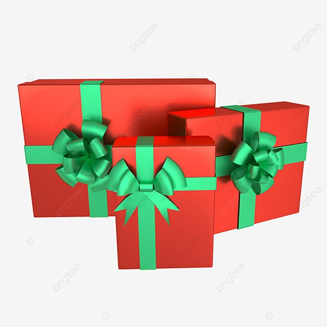 3d christmas holiday decoration gift box
