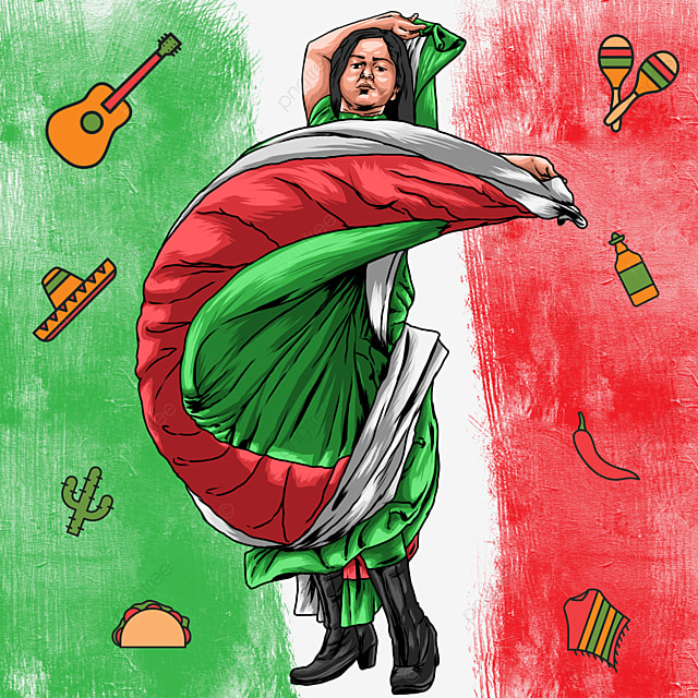 Mexico Independence Day Girl Dancing Independence Mexico Holiday Png Transparent Clipart Image And Psd File For Free Download