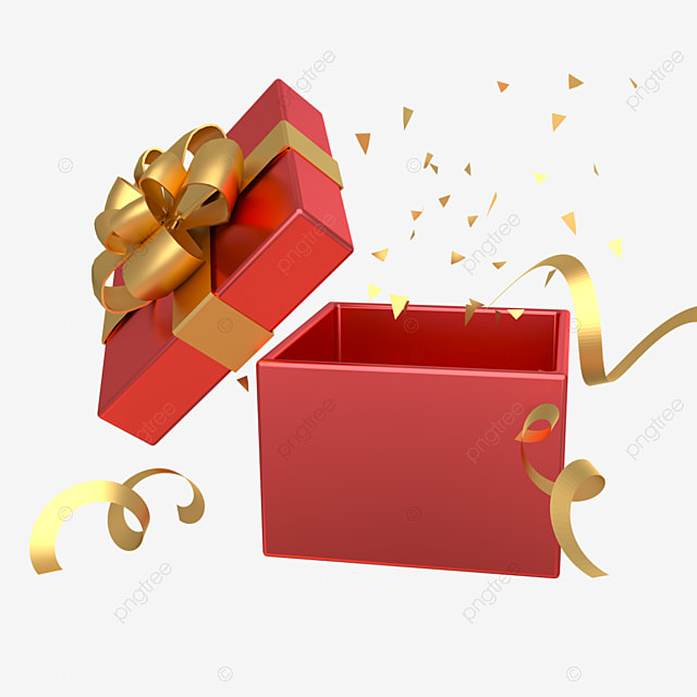 3d boxing day holiday decoration gift box