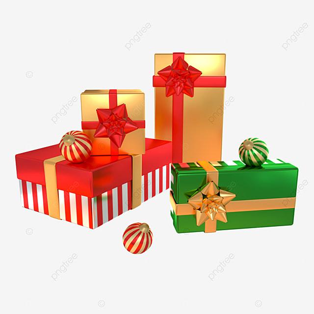 3d christmas day gift box