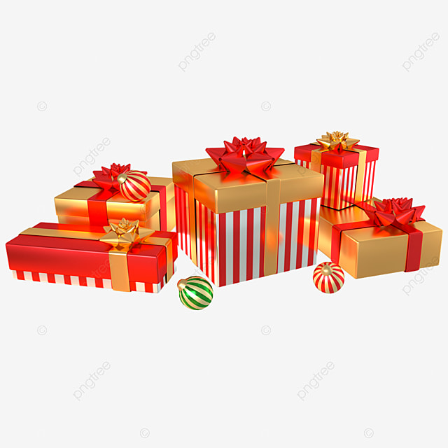 3d christmas decoration gift box