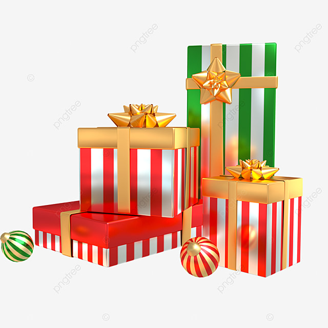 3d christmas holiday decoration gift combination