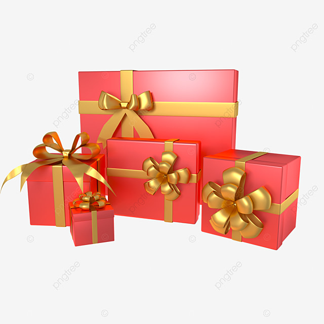 3d holiday decoration gift box
