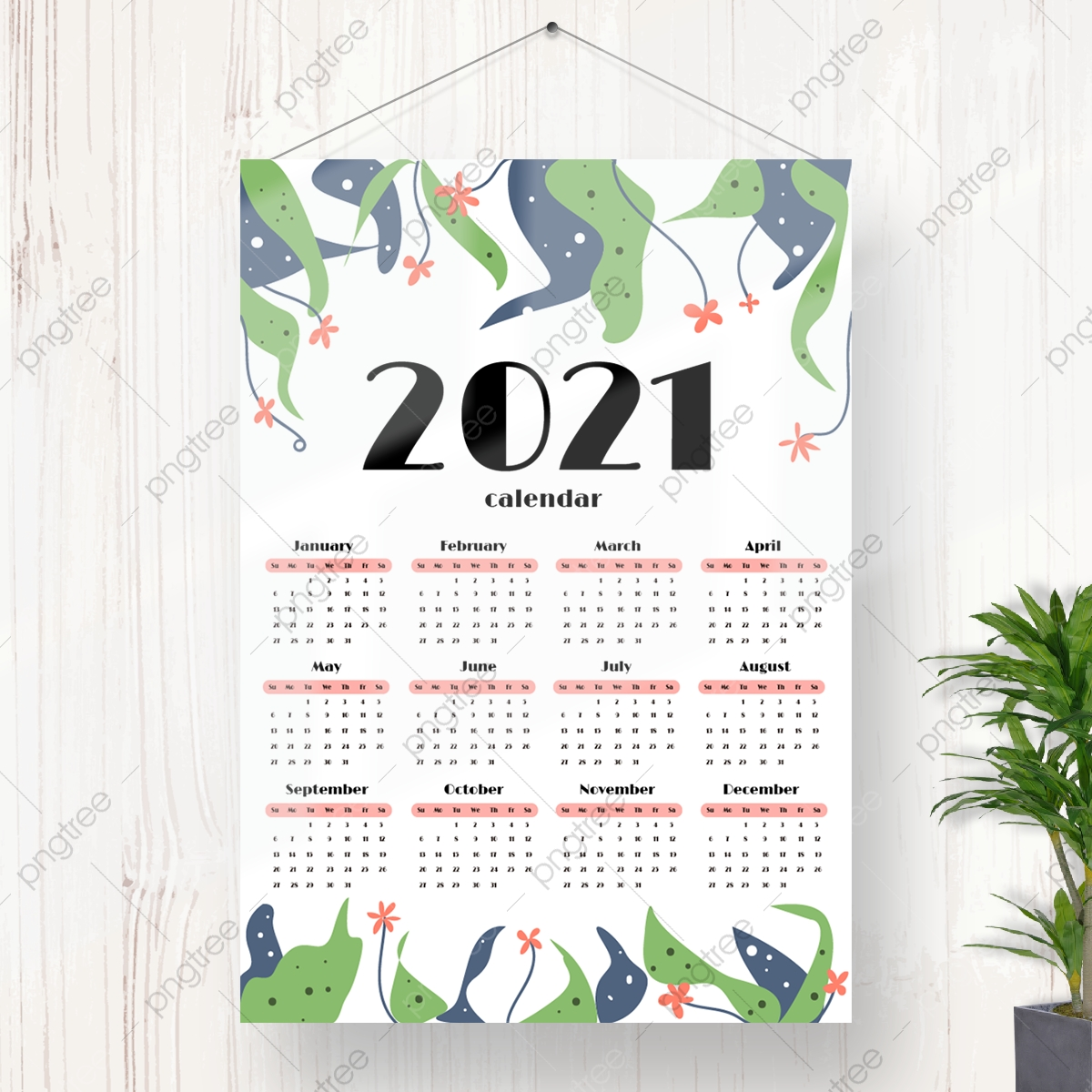 Download Kalender 2021 Hd Aesthetic : Cute Free Printable ...