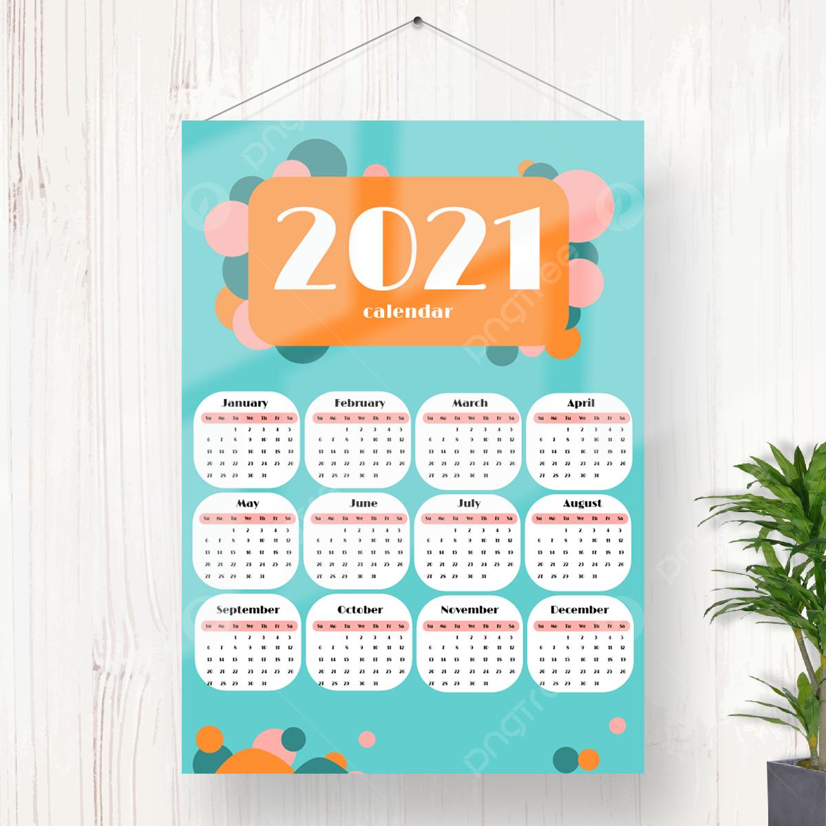 Template Kalender 2021 Aesthetic - Celoteh Bijak