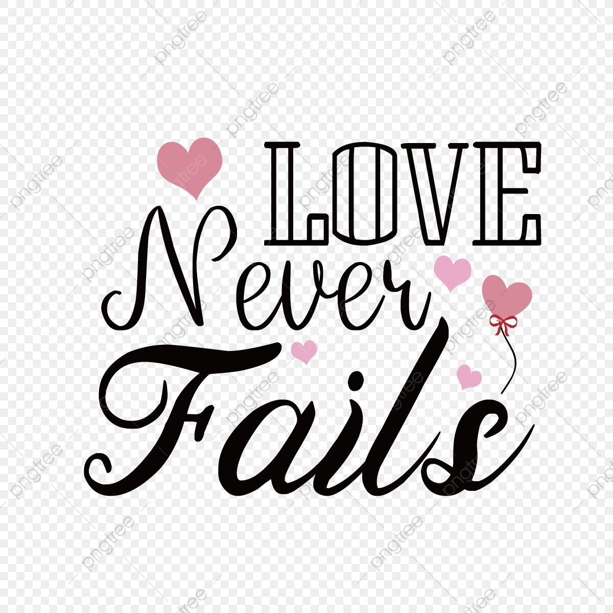 Black Love Never Fails Simple Phrase Svg Font Effect Eps For Free Download